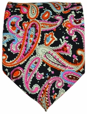 Paisley Cotton Tie by Paul Malone Red Line