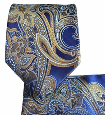 Paisley Necktie and Pocket Square Set
