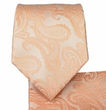 Pale Coral Necktie and Pocket Square