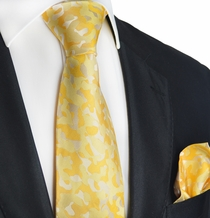 Pale Marigold Silk Tie Set by Paul Malone Red Line