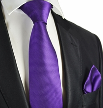 Patrician Purple Tie and Pocket Square