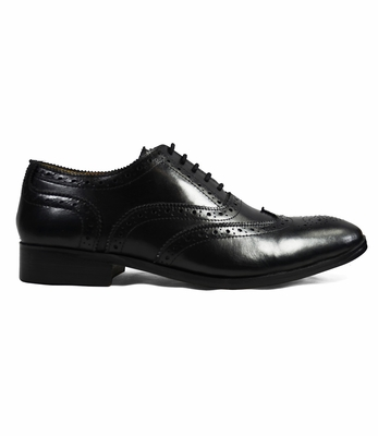Paul Malone Black Full Brogue Derby
