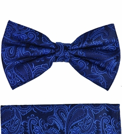 Paul Malone Bow Tie and Pocket Square Set . 100% Silk (BT518H)