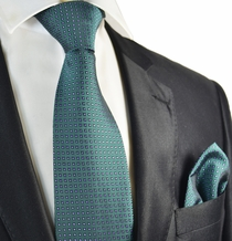 Petrol and Purple Tie and Pocket Square Set