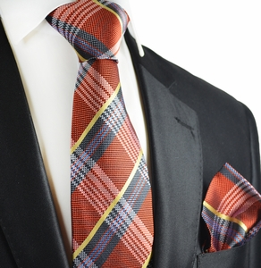 Picante Red Paul Malone Silk Tie and Pocket Square Set