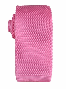 Pink Knit Tie by Paul Malone (KN679)