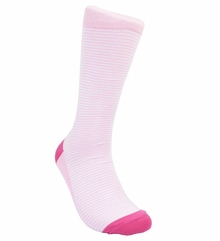 Pink Striped Cotton Dress Socks by Paul Malone