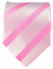 Pink Striped Silk Tie by Paul Malone (092)