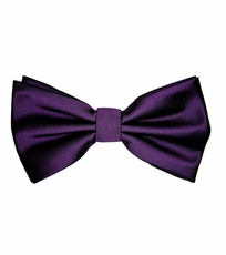 Plum Bow Tie and Pocket Square Set (BT100-P)