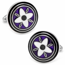 Purple and Black Twilight Star Cufflinks