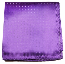 Purple and White Pocket Square . 100% Silk (H806)