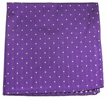 Purple and White Silk Handkerchief (H449)