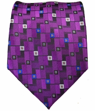 Purple Patterned Men's Tie