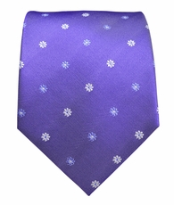 Purple Paul Malone Silk Neckties, Flowers (958)