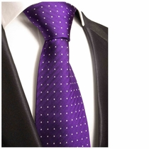 Purple Silk Tie by Paul Malone (449)