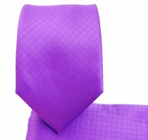 Purple Skinny Necktie & Pocket Square (Q43)