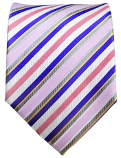 Purple Striped Men's Necktie