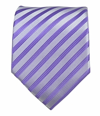 Purple Striped Men's Tie