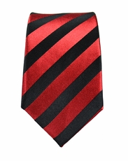 Red and Black Boys Silk Tie by Paul Malone