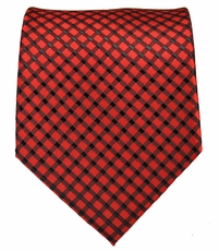 Red and Black Mens Tie