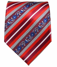 Red and Blue Striped Men's Necktie