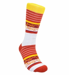 Red and Gold Cotton Dress Socks by Paul Malone