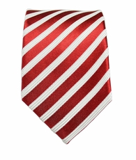Red and White Boys Silk Tie by Paul Malone