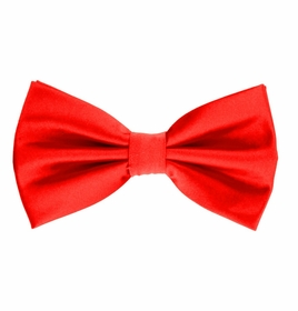 Red Bow Tie and Pocket Square Set (BT100-O)