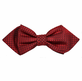 Red Checked Silk Bow Tie by Paul Malone Red Line
