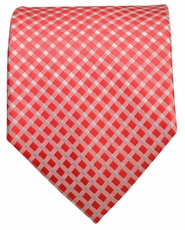 Red Checkered Men's Tie