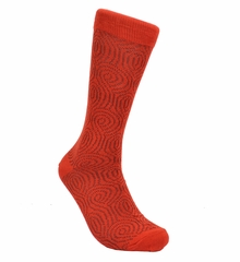 Red Cotton Dress Socks by Paul Malone