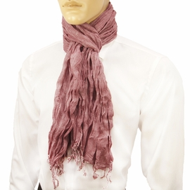 Red Men's Cotton Crinkle Scarf by Paul Malone