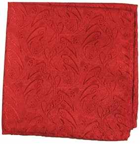 Red Mens Silk Pocket Square (H541)