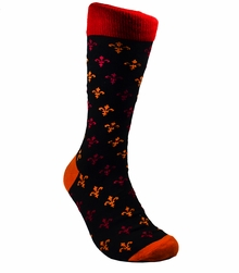 Red, Orange and Black Dress Socks by Paul Malone