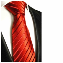 Red Paul Malone Silk Necktie (441)