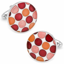 Red Polka Dot Cufflinks