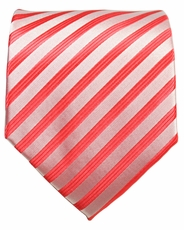 Red Striped Men's Necktie