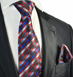 Red Tie and Pocket Square Set