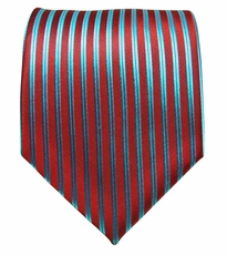 Red & Turquoise Paul Malone Silk Necktie (903)