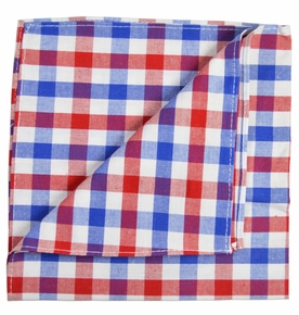 Red, White and Blue Pocket Square by Paul Malone
