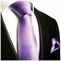 Persian Violet Necktie and Pocket Square Set