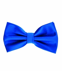 Royal Blue Bow Tie and Pocket Square Set (BT100-EE)