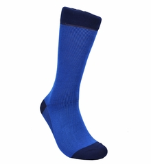 Royal Blue Cotton Dress Socks by Paul Malone