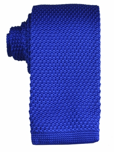 Royal Blue Knit Tie by Paul Malone