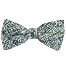 Salt and Pepper Bow Tie by Paul Malone . Cotton/Linen Blend