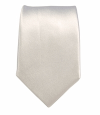 Satin White Boys Tie by Paul Malone . 100% Silk