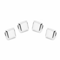 Silver and Mother of Pearl JFK Presidential Studs