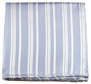 Silver Blue Mens Silk Pocket Square (H532)