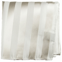 Silver White Mens Silk Pocket Square (H401)