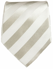Silver White Paul Malone Silk Neck Tie (401)